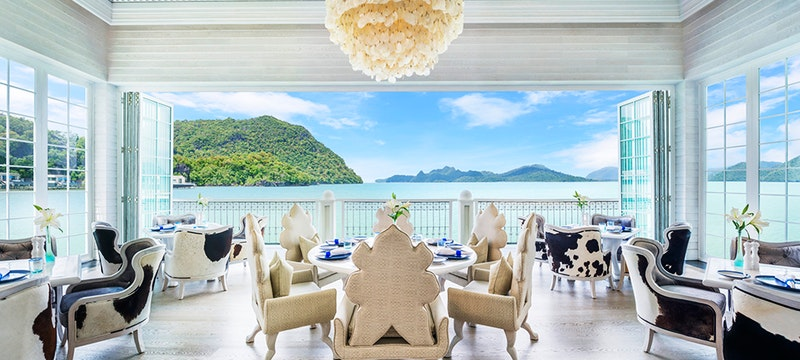 Dining terrace at St Regis Langkawi