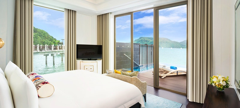 Sunset Villa bedroom at St Regis Langkawi