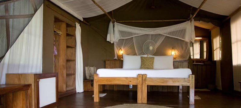Standard bedroom at Fundu Lagoon