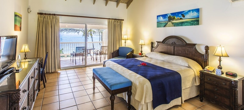 One bedroom beachfront guestroom at St James's Club & Villas, Antigua
