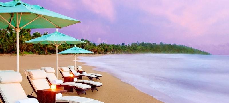 Idylic beach at dawn at The St Regis Bahia Beach Resort, Puerto Rico