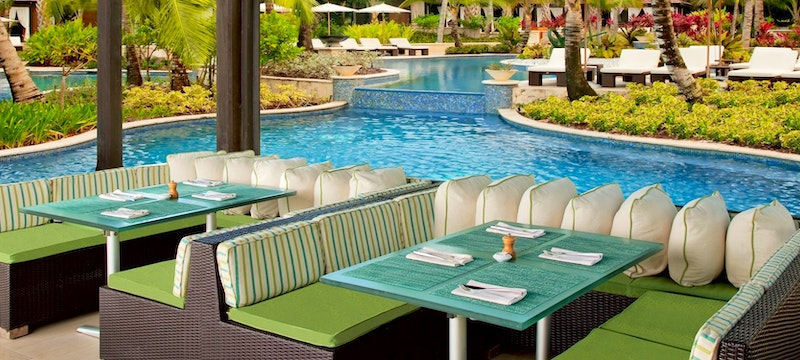 The destination for modern eclectic cuisine, Seagrapes Restaurant, at The St Regis Bahia Beach Resort, Puerto Rico