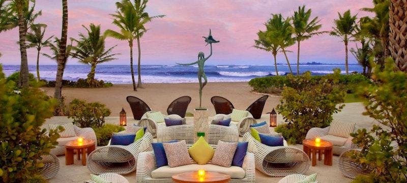 Terrace overlooking the ocean at The St Regis Bahia Beach Resort, Puerto Rico