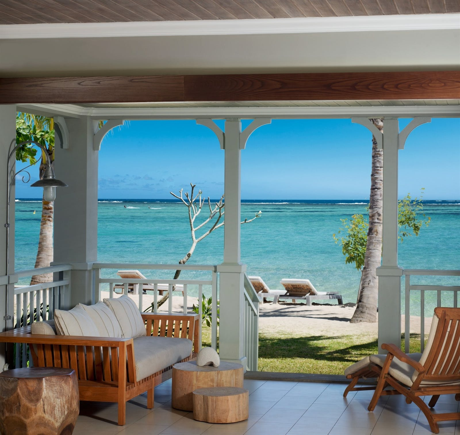 Beachfront Junior Suite Terrace at The St Regis Mauritius Resort