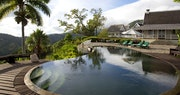 Pool and decking area at Strawberry Hill, Jamaica