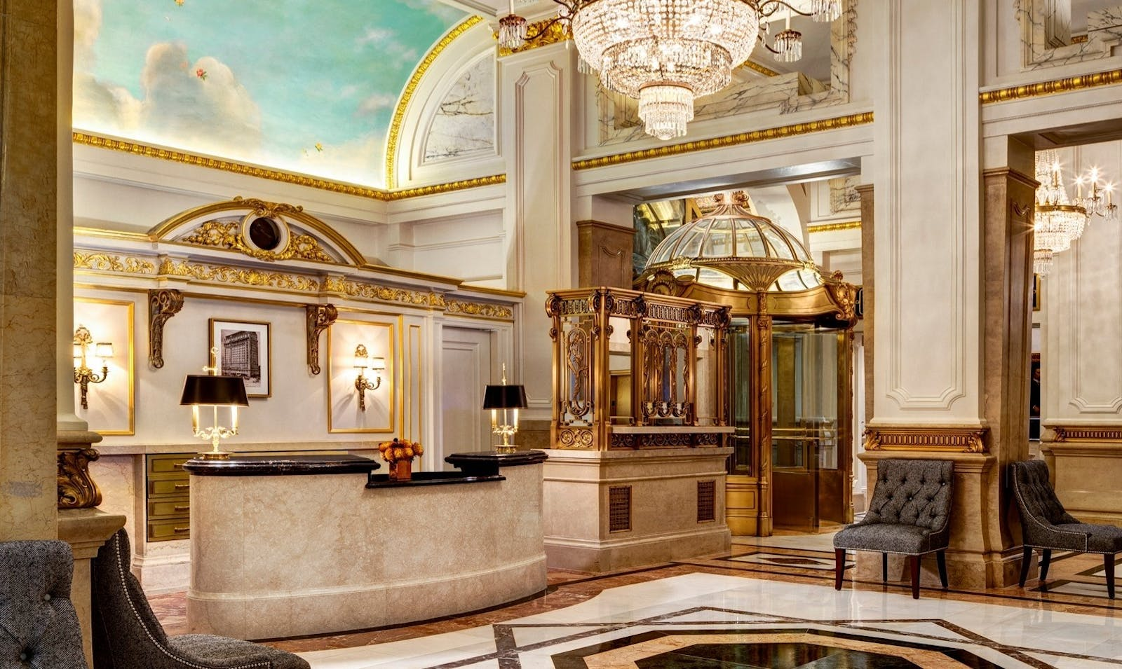 lobby at the st regis new york