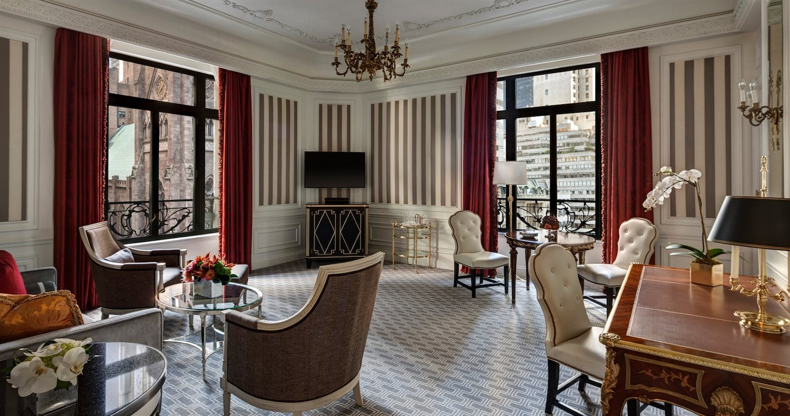 grand suite living room at the st regis new york