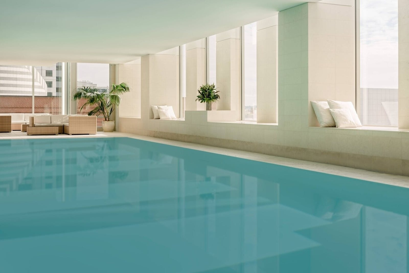 indoor pool at st regis san francisco