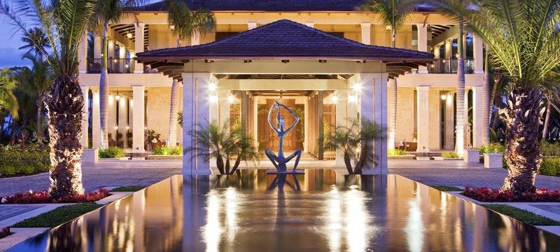 Entrance to the St Regis Bahia Beach Resort, Puerto Rico