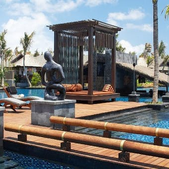 Lagoon pool area at St. Regis, Bali