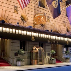 exterior of the st regis new york