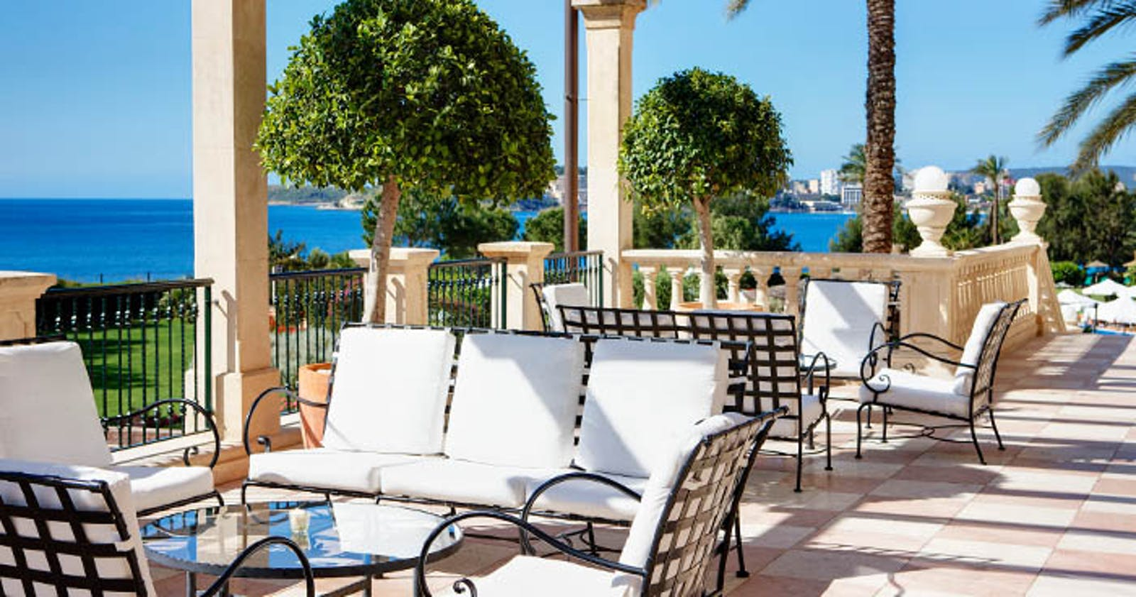 Dining Terrace at The St Regis Mardavall Mallorca Resort, Spain