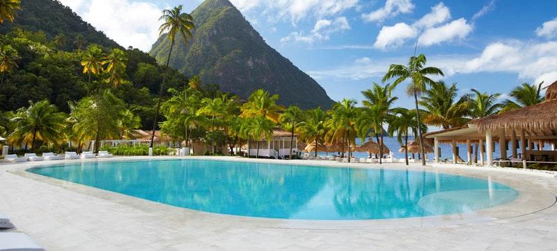 Pool area at Sugar Beach, A Viceroy Resort