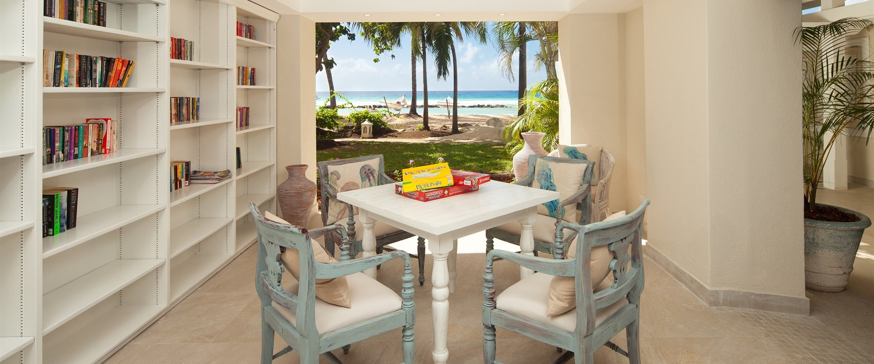 games room at sugar bay, barbados