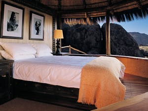 Suite bedroom at Mowani Mountain Camp
