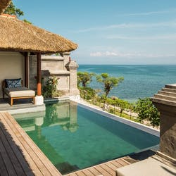 Infinity pool at Four Seasons Resort Bali at Jimbaran Bay