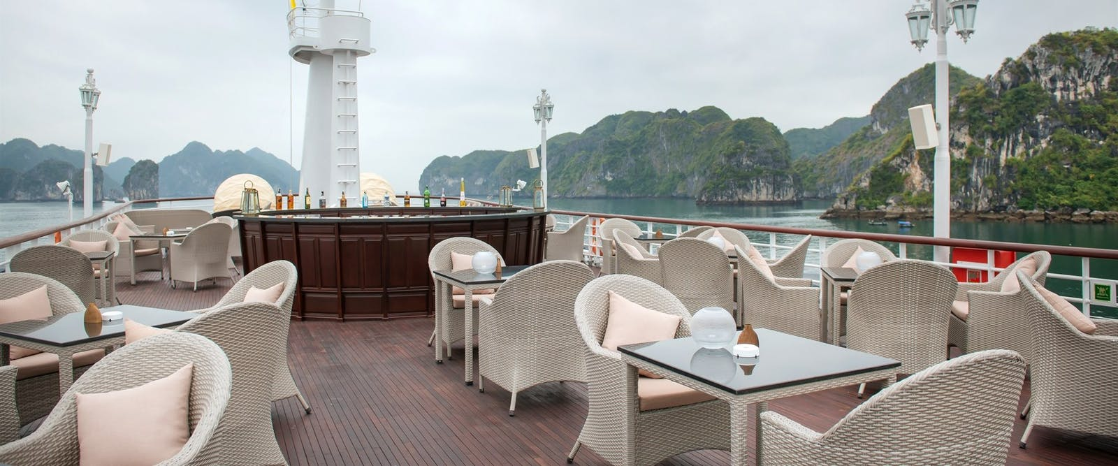 Sundeck on Elegant Paradise Cruises