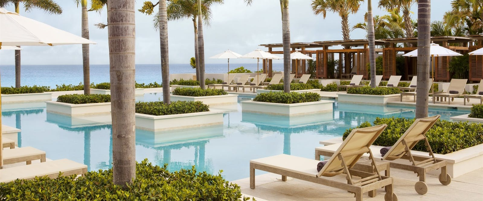 Resort sunrise pool at Four Seasons Anguilla Resort