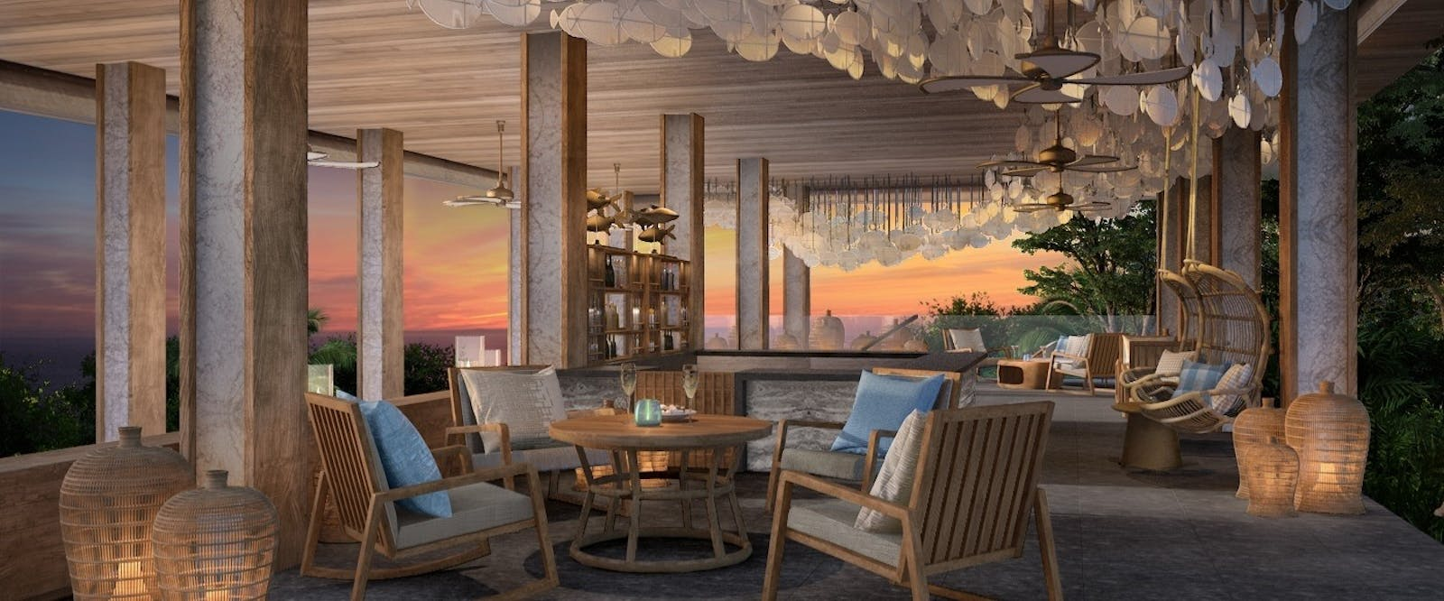Sunset Bar at Six Senses Krabey Island, Cambodia