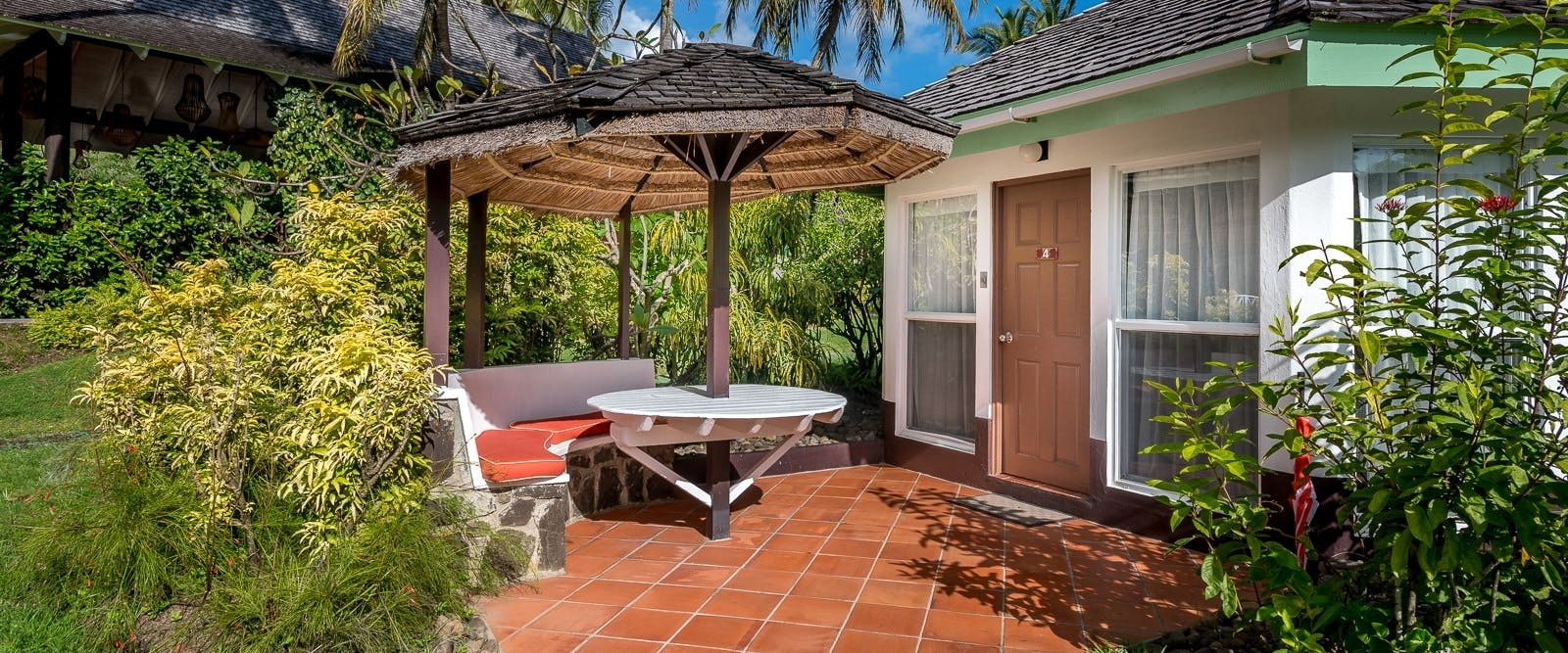 Superior room patio at East Winds, St Lucia