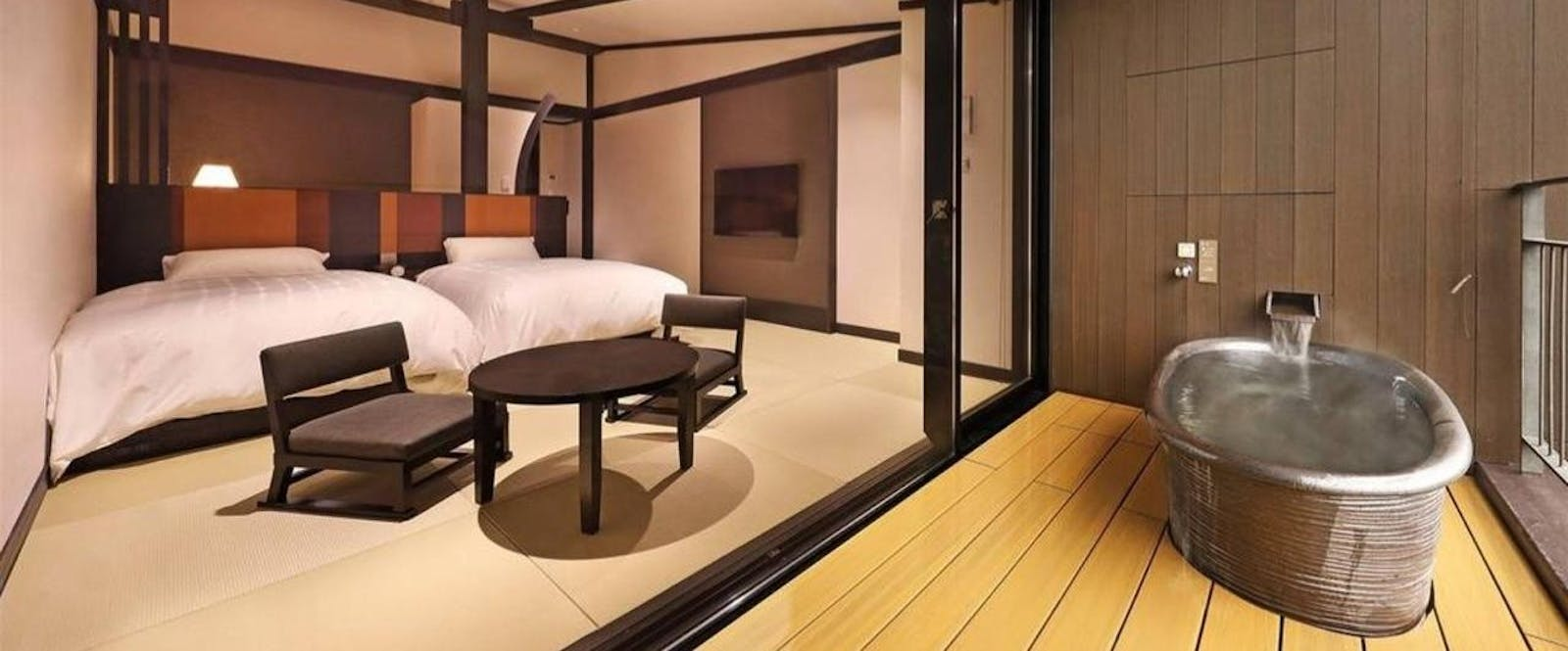 Superior Room with Open-air Bath at Hakone Kowakien Tenyu, Japan