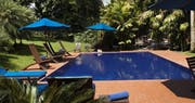 Swimming pool area at Hotel Boutique Sazagua