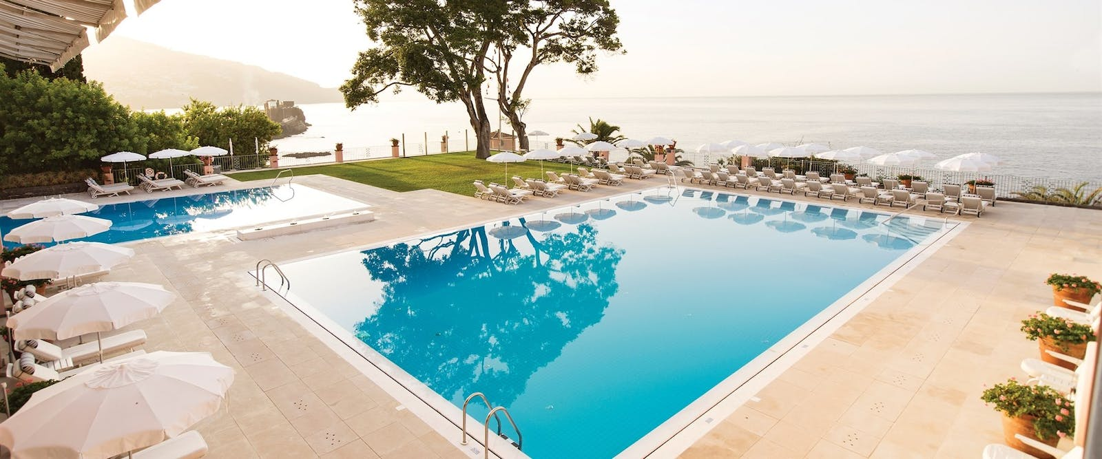 Outdoor Swimming Pool at Reid's Palace, A Belmond Hotel, Madeira, Portugal