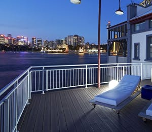 Private terrace at Pier One Sydney Harbour