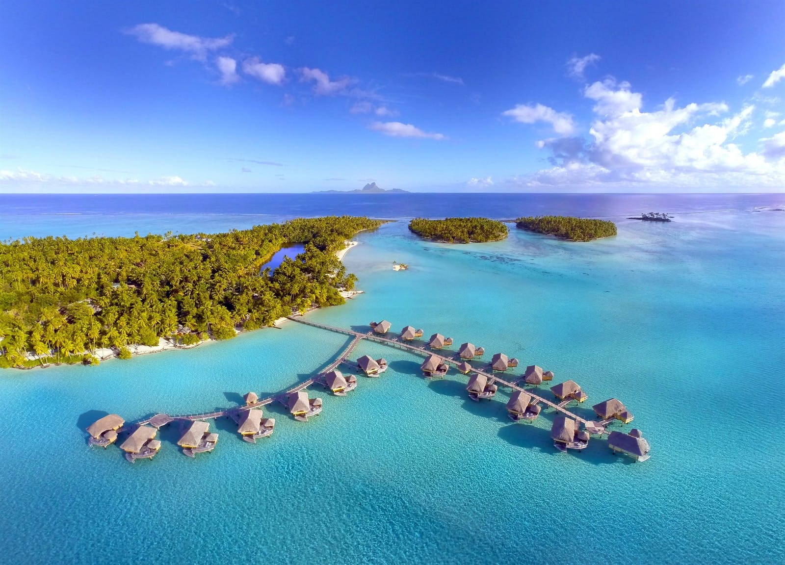 Ariel View of Le Taha'a Island Resort & Spa, Tahiti, French Polynesia