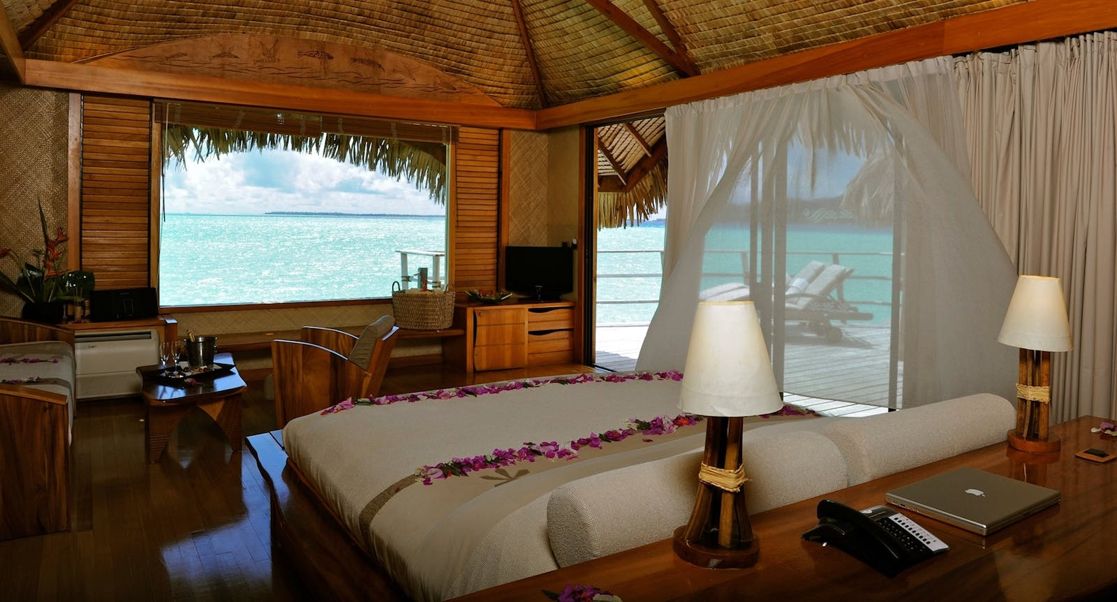 Overwater Bungalow at Le Taha'a Island Resort & Spa, Tahiti, French Polynesia