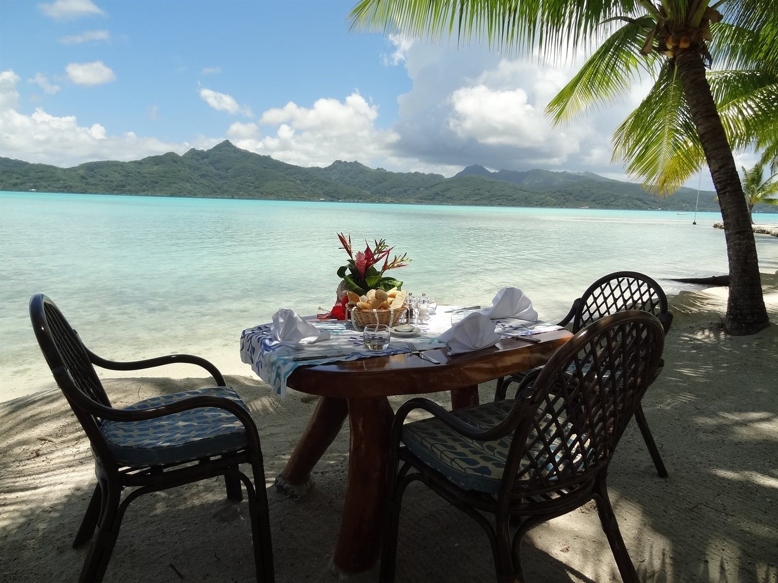 Dining View at Vahine Private Island Resort & Spa, French Polynesia