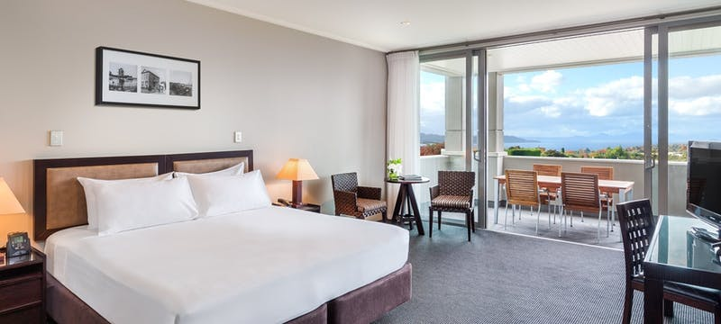 Premium guest bedroom at Hilton Lake Taupo