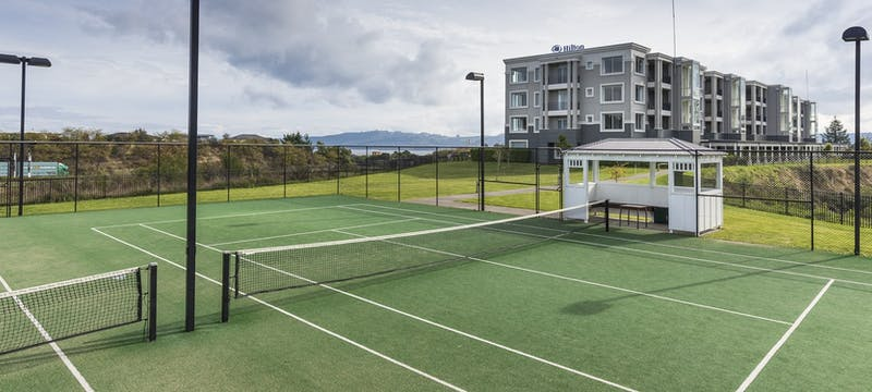 Tennis court at Hilton Lake Taupo