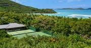 Tennis courts at Rosewood Little Dix Bay, British Virgin Islands