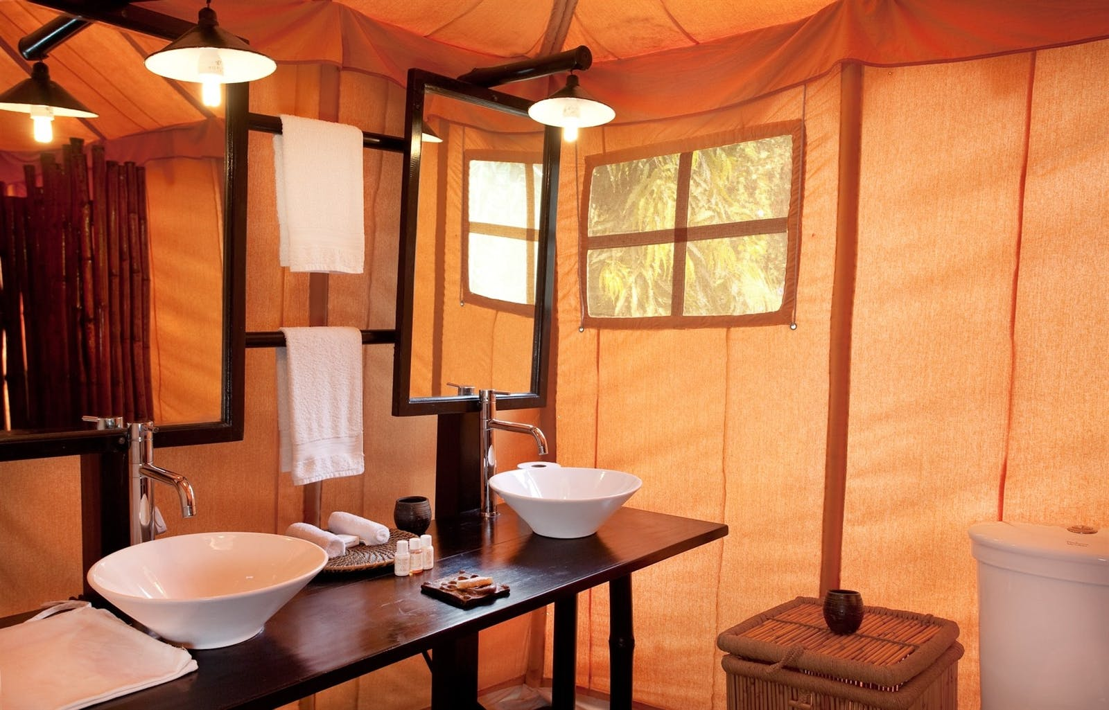khem villas tent bathroom