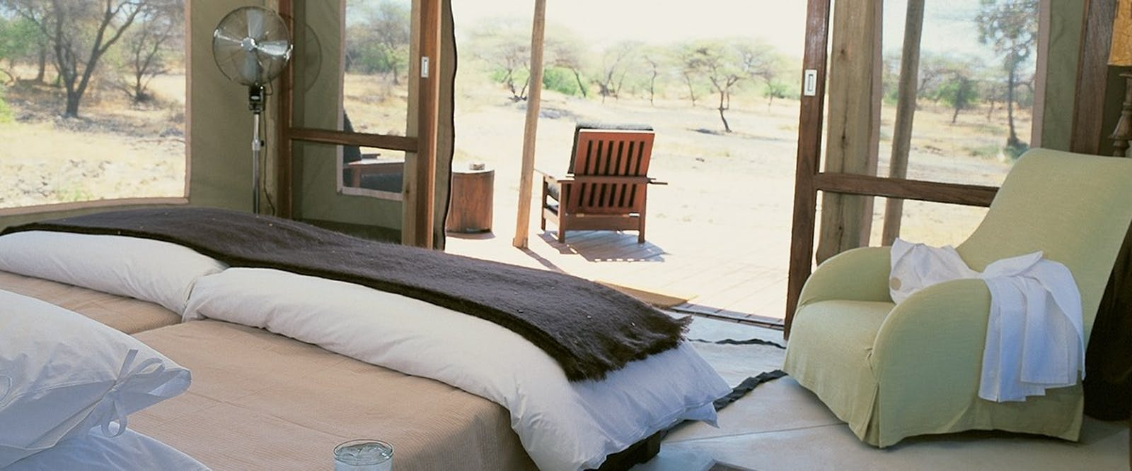 Bedroom in Tented Camp at Onguma Private Game Reserve