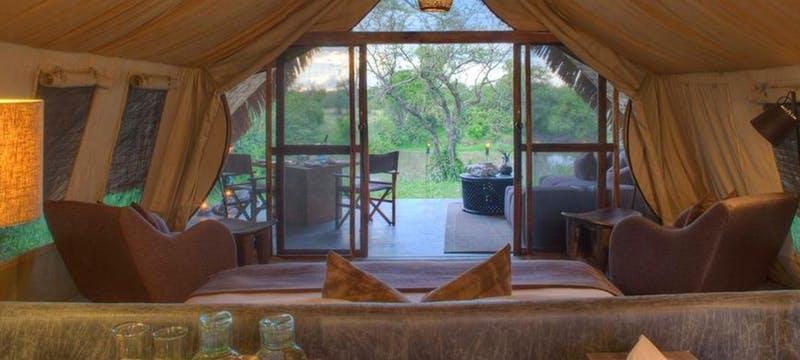 Interior of tent at &Beyond Grumeti Serengeti Tented Camp