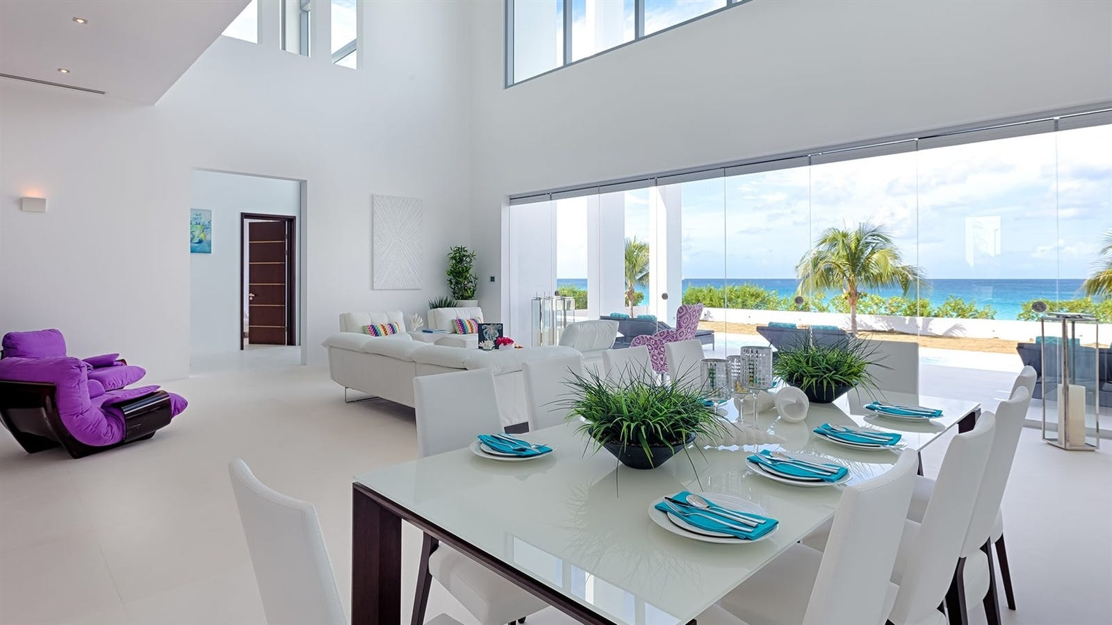 dining and main lounge at the beach house anguilla