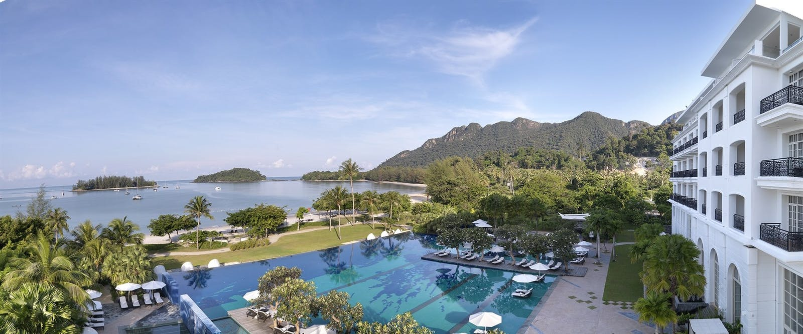 Infinity pool at The Danna Langkawi