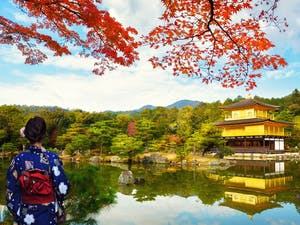 The Golden Pavilion in Kyoto