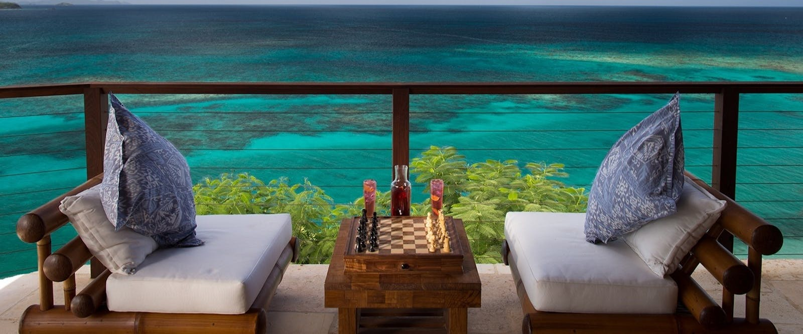 Chess for two at Necker Island, British Virgin Islands