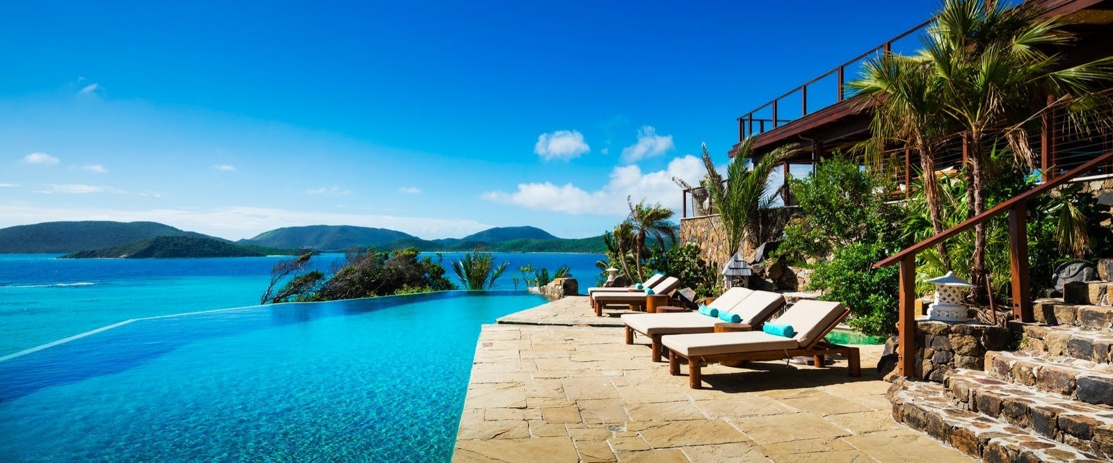 The Great House Pool at Necker Island, British Virgin Islands