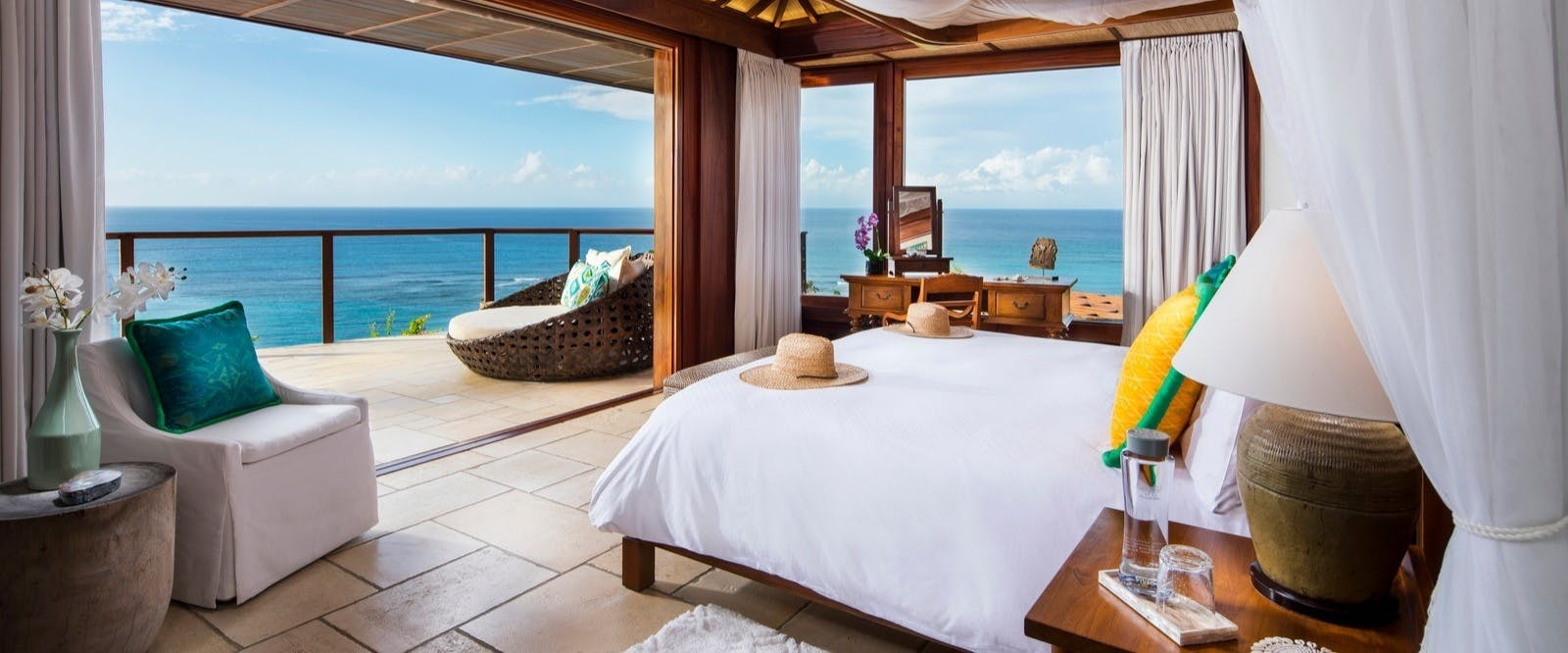 The Great House room at Necker Island, British Virgin Islands