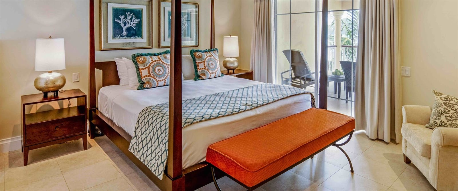 Master Bedroom at The Landings Resort and Spa by Elegant Hotels, St Lucia