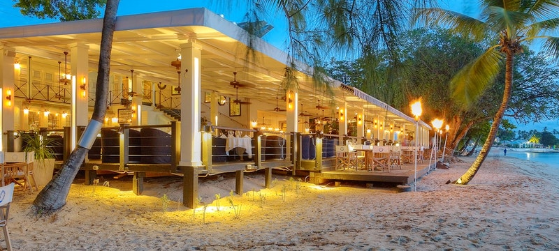 Beachfront restaurant at The Lone Star, Barbados