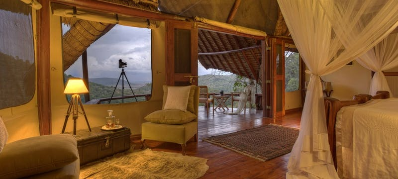 The photographers studio at  at Saruni Mara Lodge
