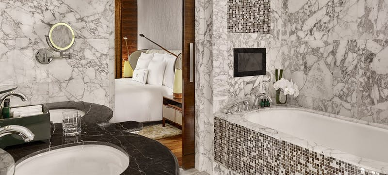 Executive suite by giorgetti bathroom at The Reverie Saigon