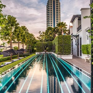 Main swimming pool at The Siam Bangkok, Thailand