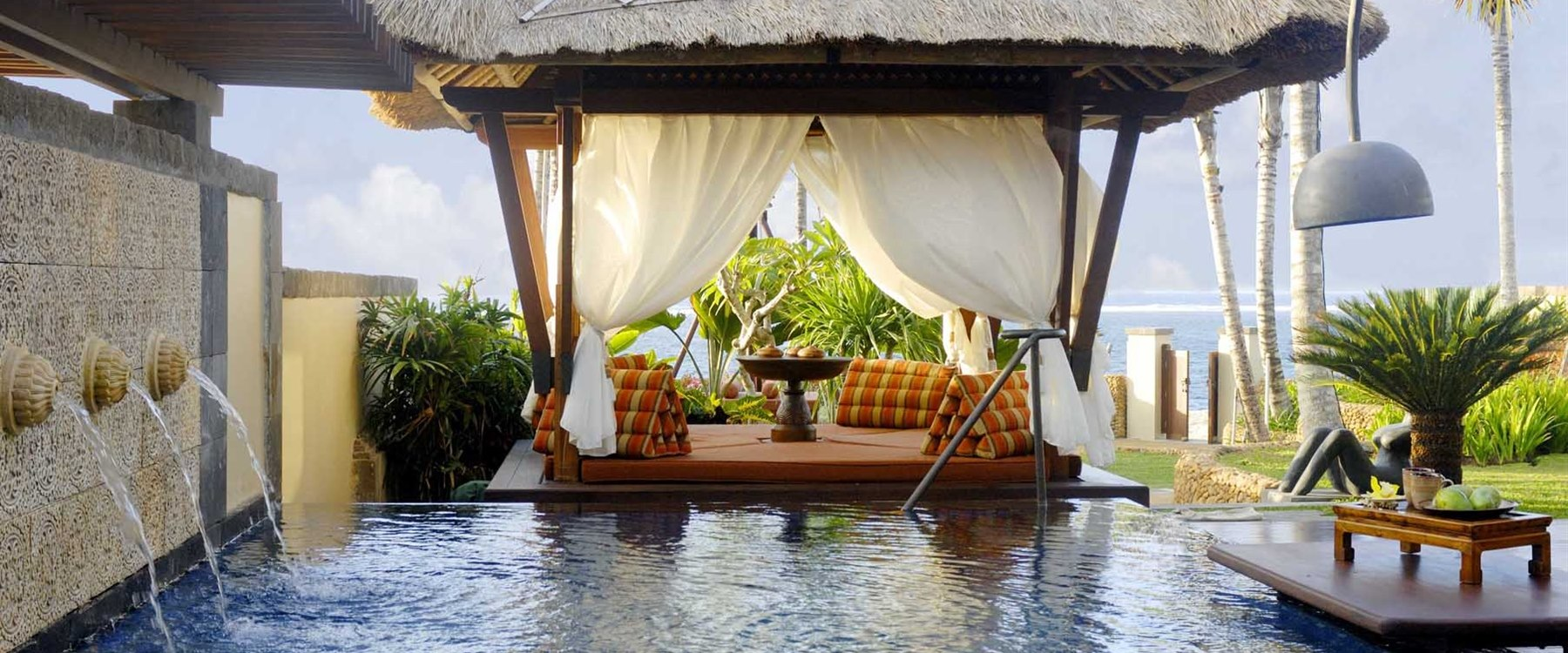 the strand villa private pool at The St Regis Bali Resort