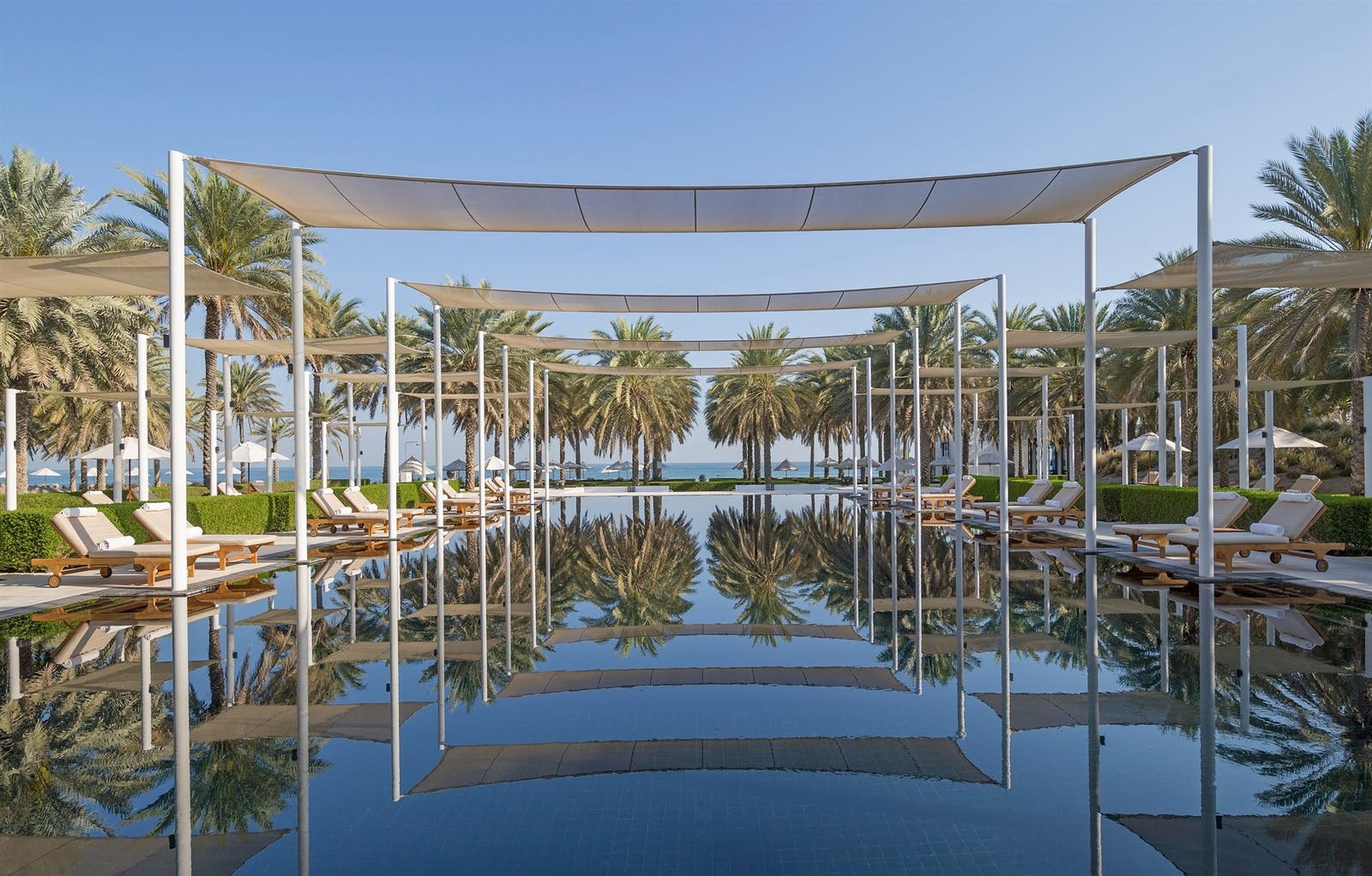 swimming pool at the Chedi Muscat